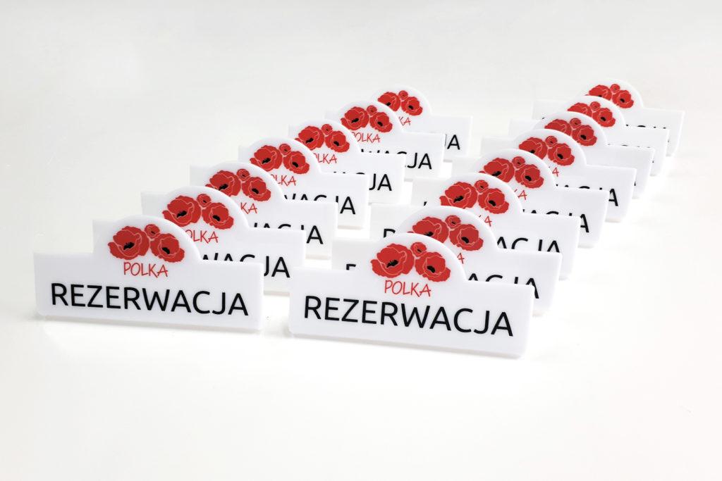 Oznaczenia na stolik - rezerwacja
