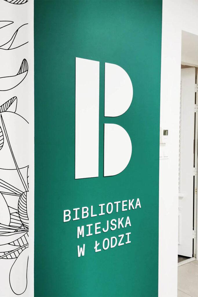 Biblioteka Miejska w Łodzi litery 3d