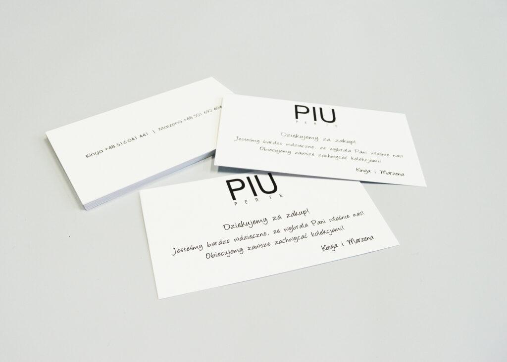 PIU PER TE - Gadżety poligraficzne - wizytówka