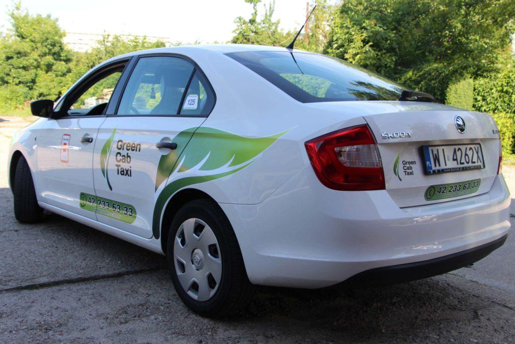 green cab taxi lodz oklejanie pojazdów