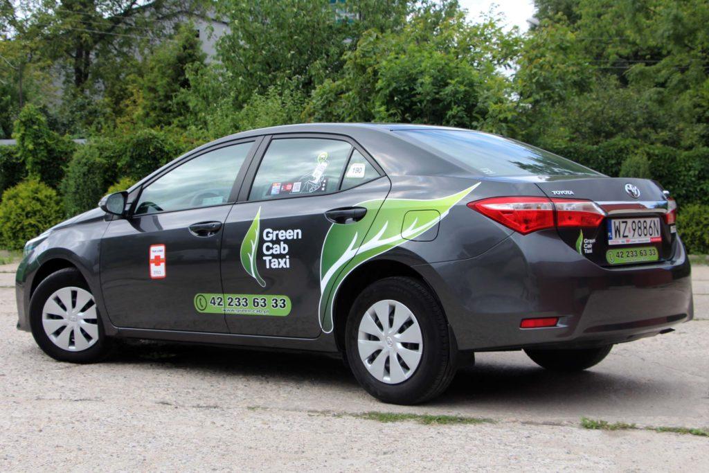 oklejanie pojazdow green cab taxi łódź