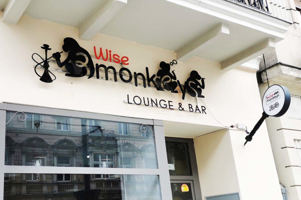 Wise 3 Monkeys - litery 3d z efektem halo