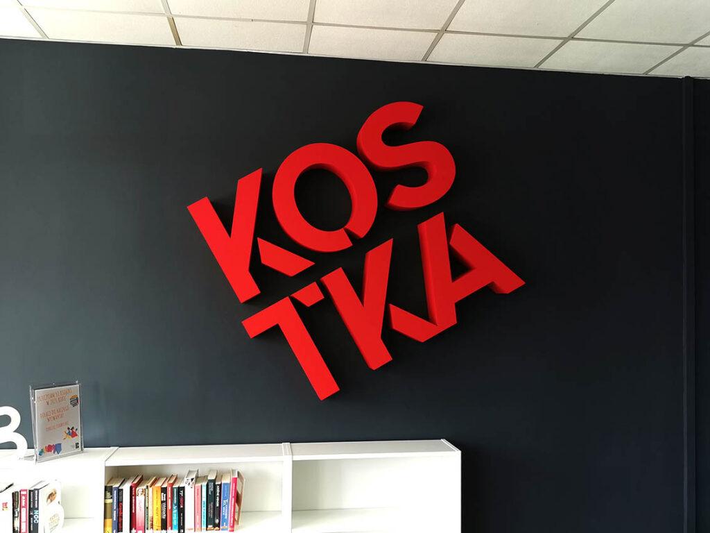 Biblioteka Kostka - litery 3d