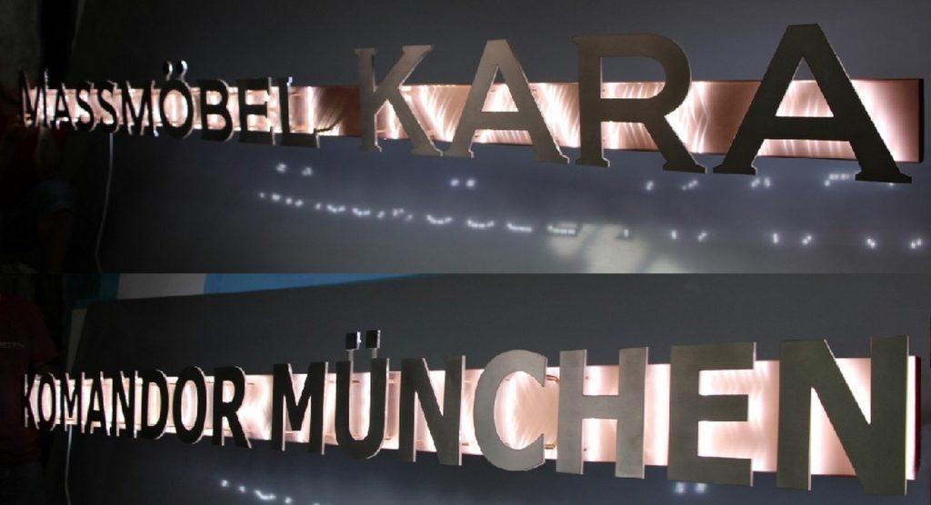 litery z blachy kwasoodpornej z efektem halo monachium - www.partner-reklama.pl