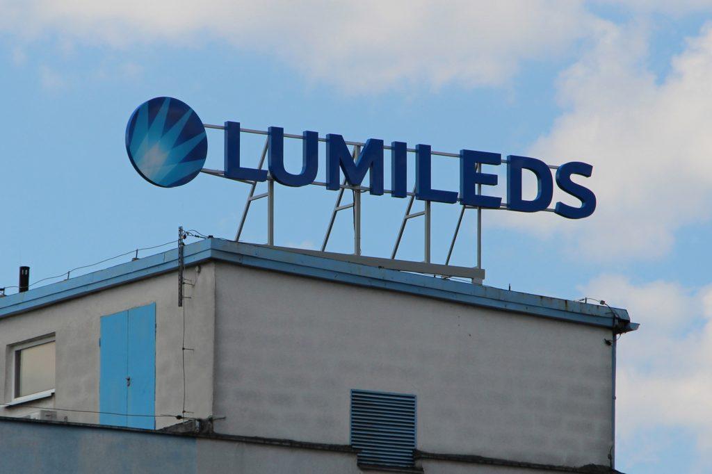Litery metalowe Lumileds