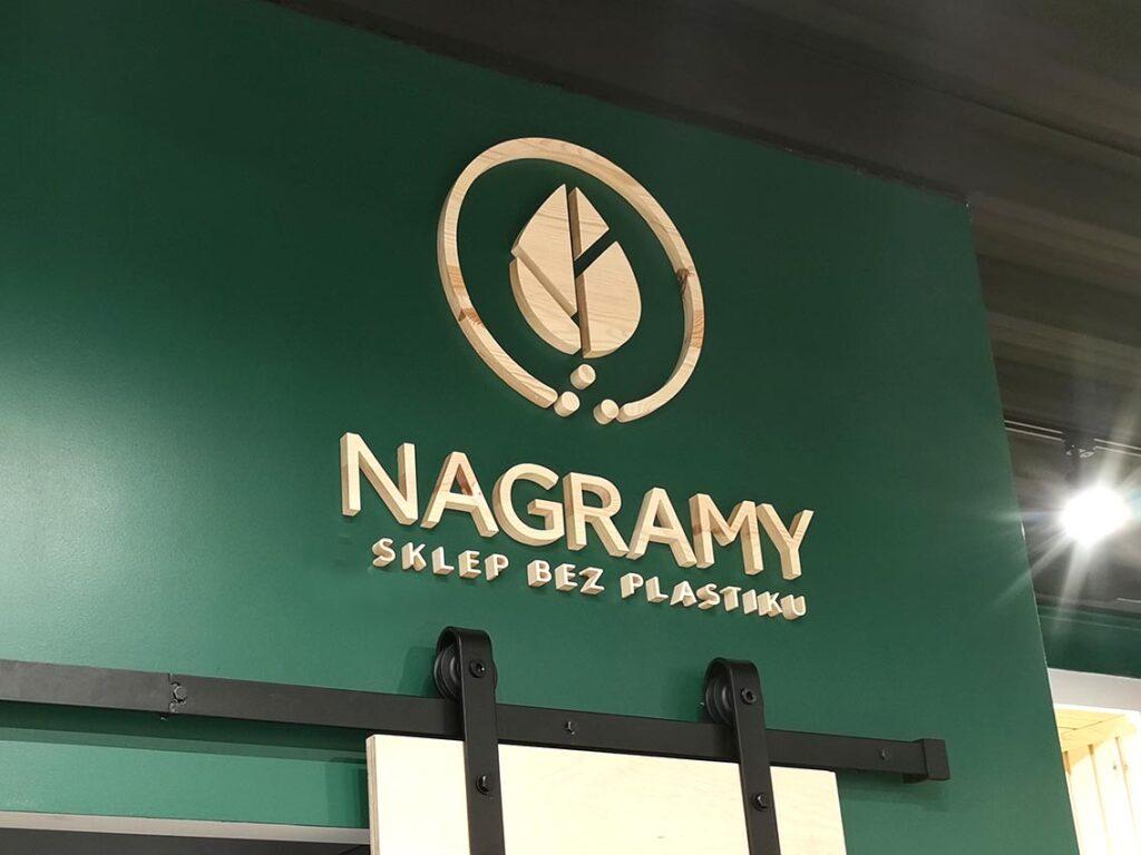 NAGRAMY - drewniane logo 3d