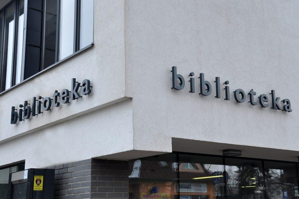 oznakowanie instytucji - Biblioteka