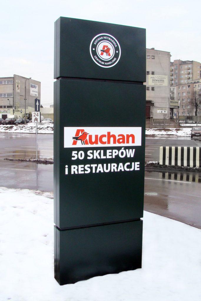 Pylon reklamowy Auchan
