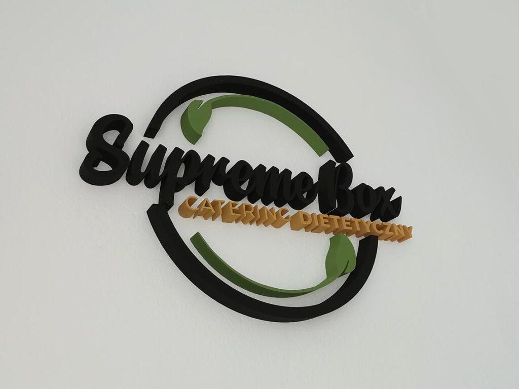 Supreme Box - logo 3d ze styroduru