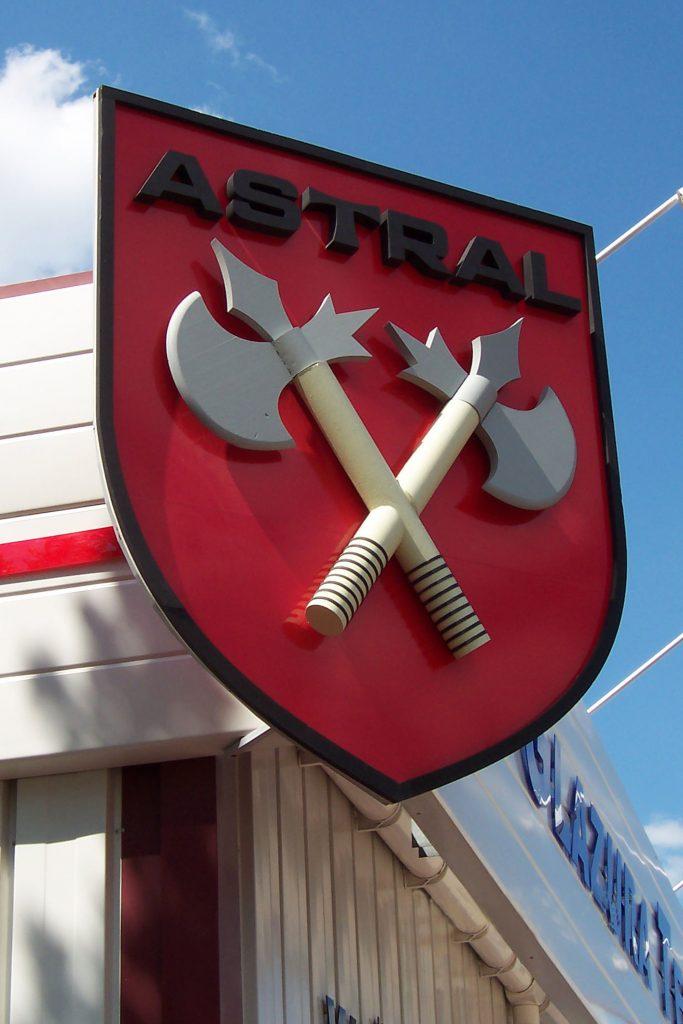 Szyld reklamowy ASTRAL