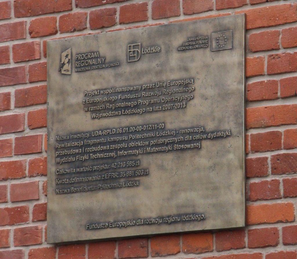 tablica odlew z brązu Łódź - www.partner-reklama.pl